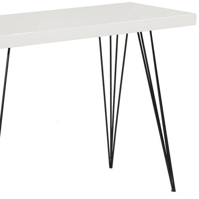Scandi Console Side Table - White Gloss