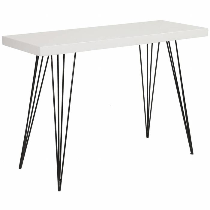 Scandi Console Table - White Gloss