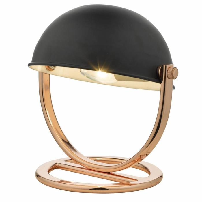 Dome Lamp - Polished Copper & Black