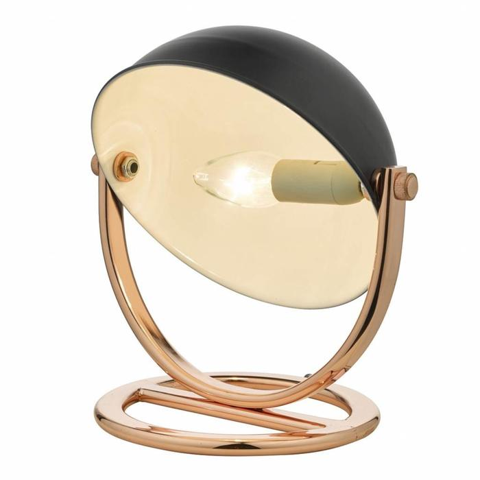 Dome Lamp - Polished Copper & Black