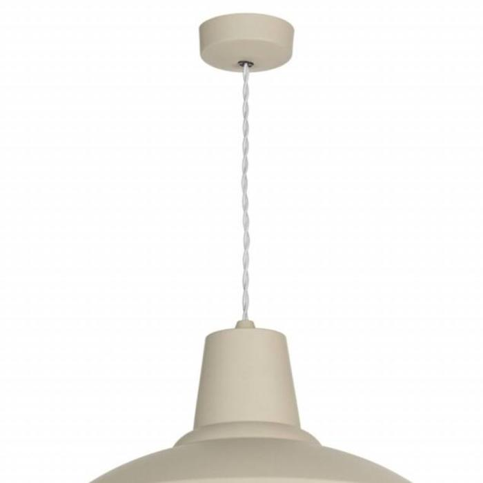 UK Hand Crafted Industrial Pendant - Cotswold Cream & Copper