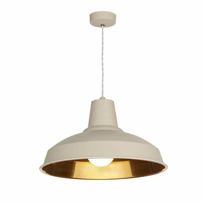 Reclamation Pendant - Cotswold Cream & Copper Pendant - David Hunt
