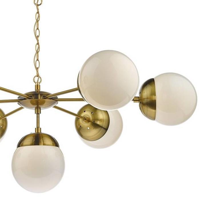 Bomba - Natural Brass & Opal Glass