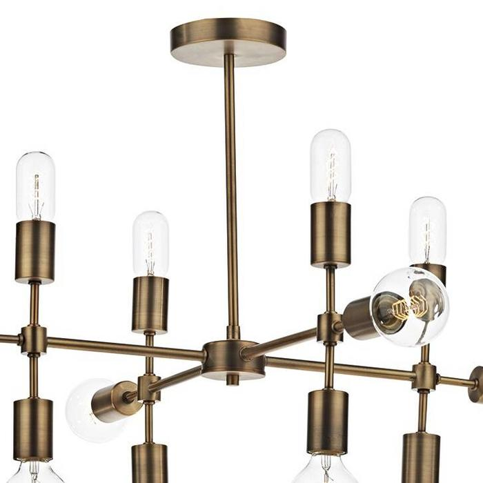 Retro Industrial Feature Pendant - Burnished Gold