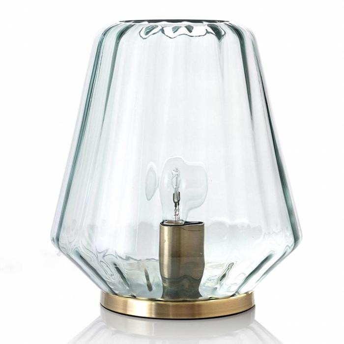 Gida - Reeded Glass Hurricane - Small