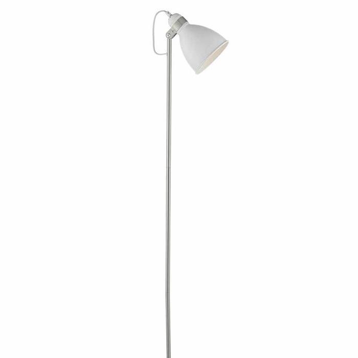 Nordic White & Satin Chrome Floor Lamp