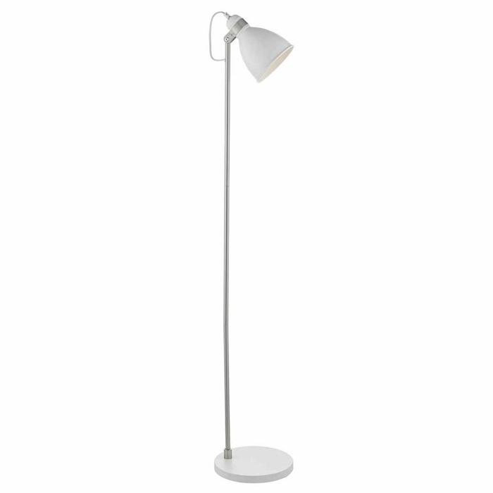 Nordic White & Satin Chrome Floor Lamp