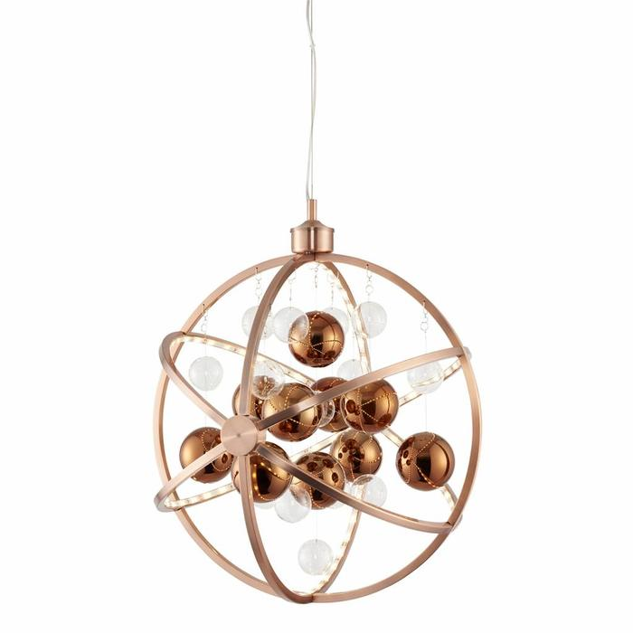 Orbital Pendant - LED- Brushed Copper