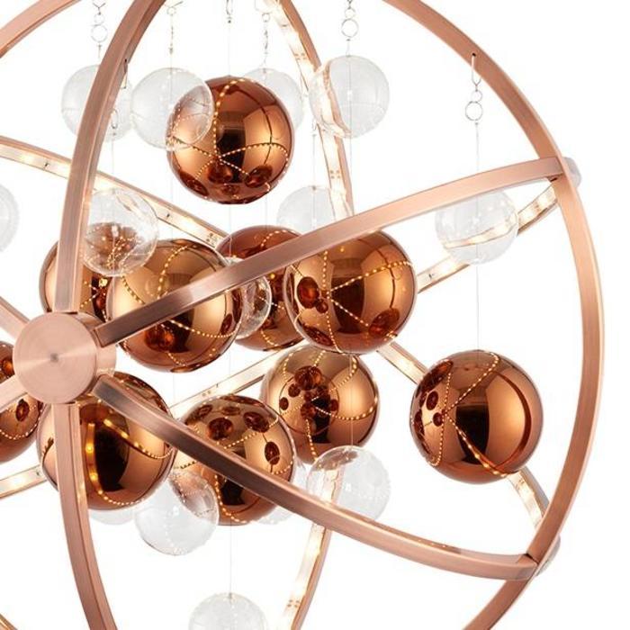 Orbital Pendant - LED- Brushed Copper