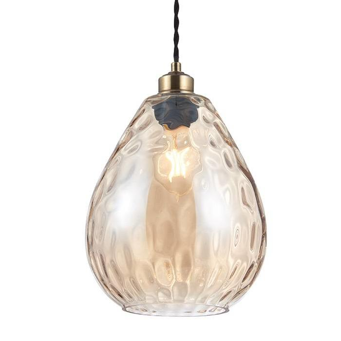 Rippled Cognac Glass Shade
