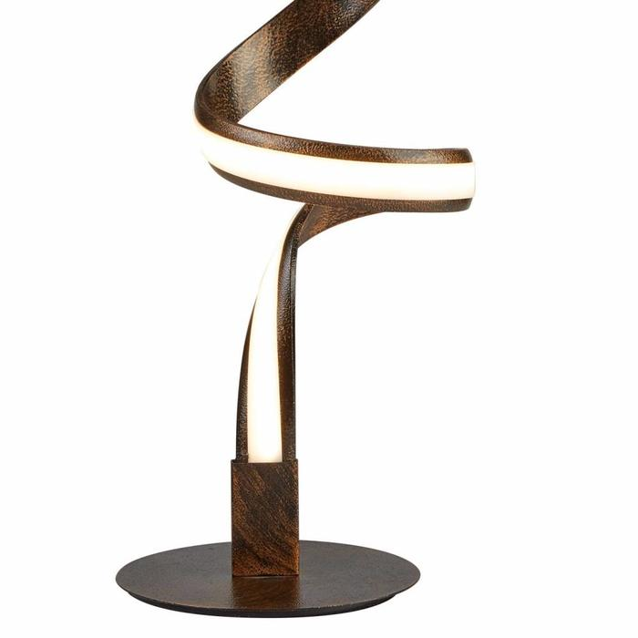 Helix - LED Spiral Table Lamp - Metal/Rustic Brown/Acrylic - Copy