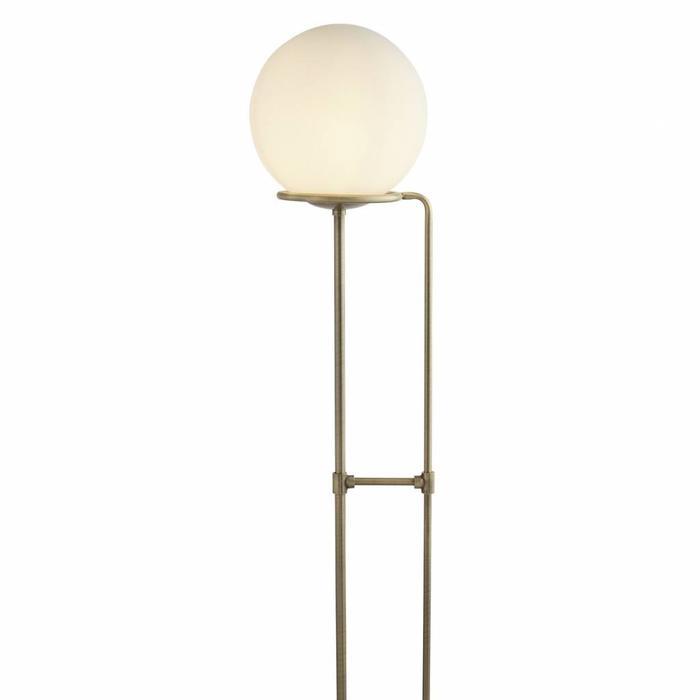 Kloden - Opal Globe Floor Lamp  - Antique Brass