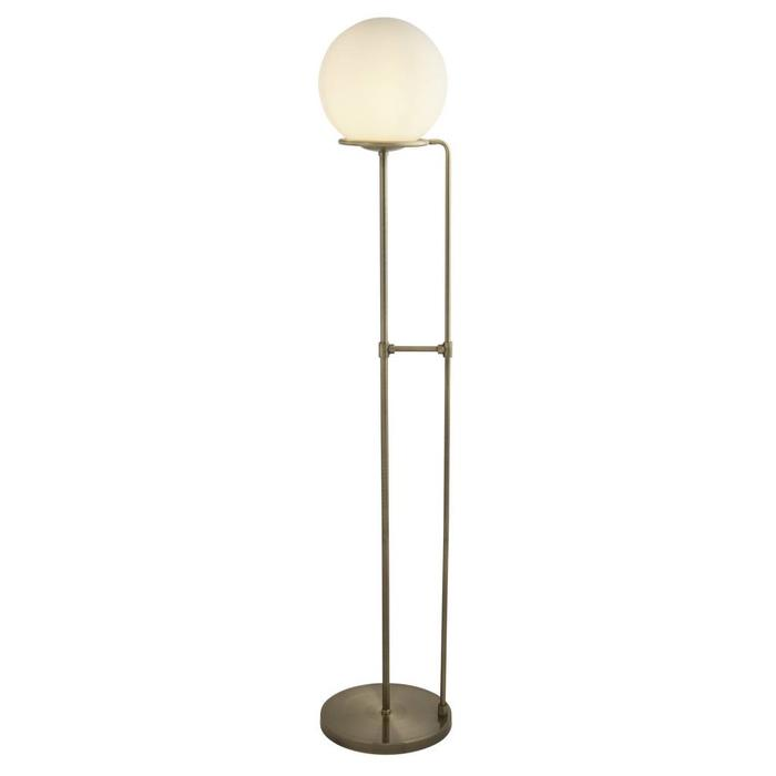 Kloden - Opal Globe Floor Lamp  - Antique Brass