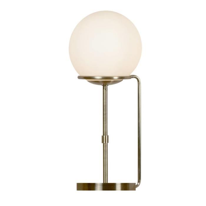 Kloden - Opal Globe Table Lamp  - Antique Brass