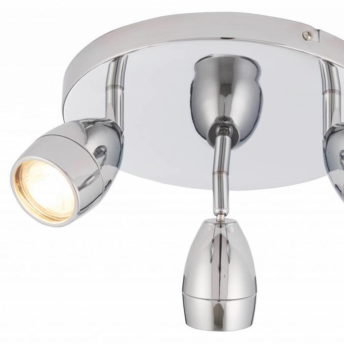 Portal - 3 Light Round Bathroom Spotlight