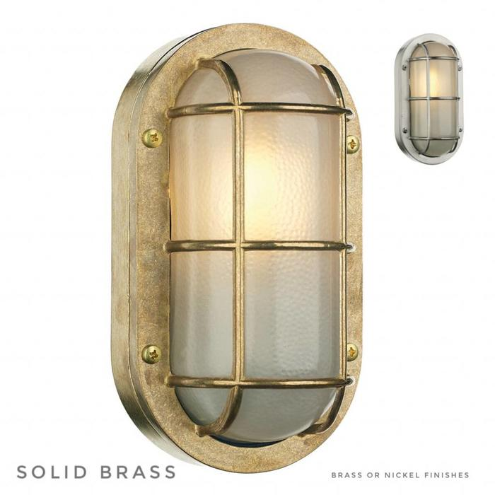 Phare - Solid Brass Bulkhead Outdoor Wall Light