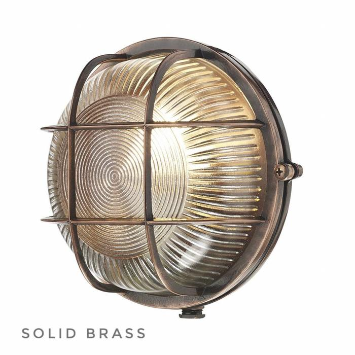 Amiral - Solid Brass, Antique Copper Bulkhead - IP64