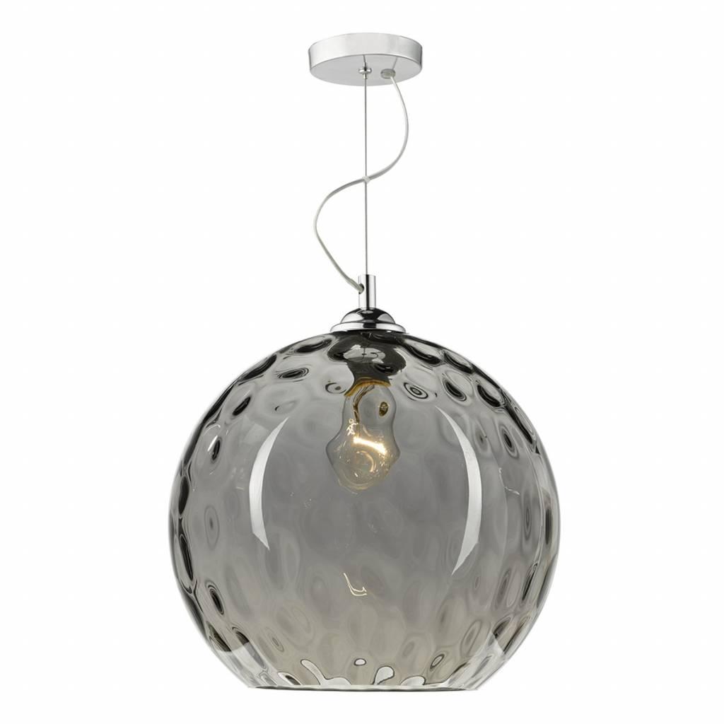 Ripple Smoked Glass Pendant Lightbox