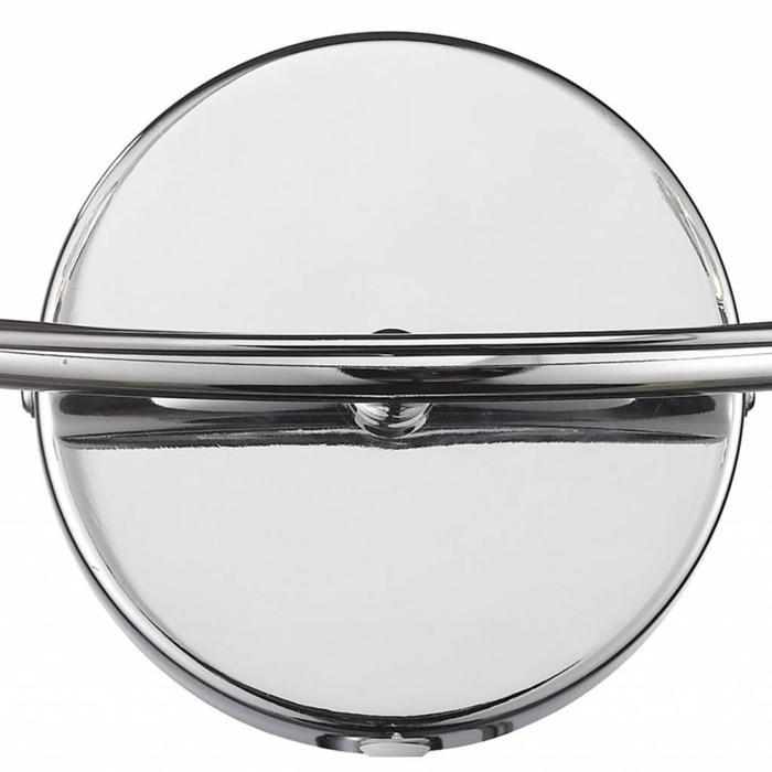 Crystal Glass Double Wall Light - Polished Chrome