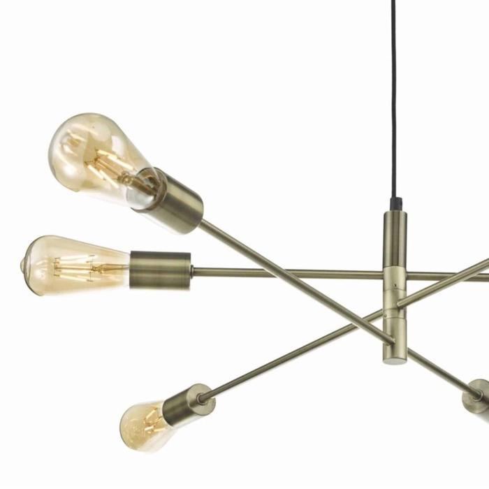 Alana - Sputnik Pendant - Antique Brass