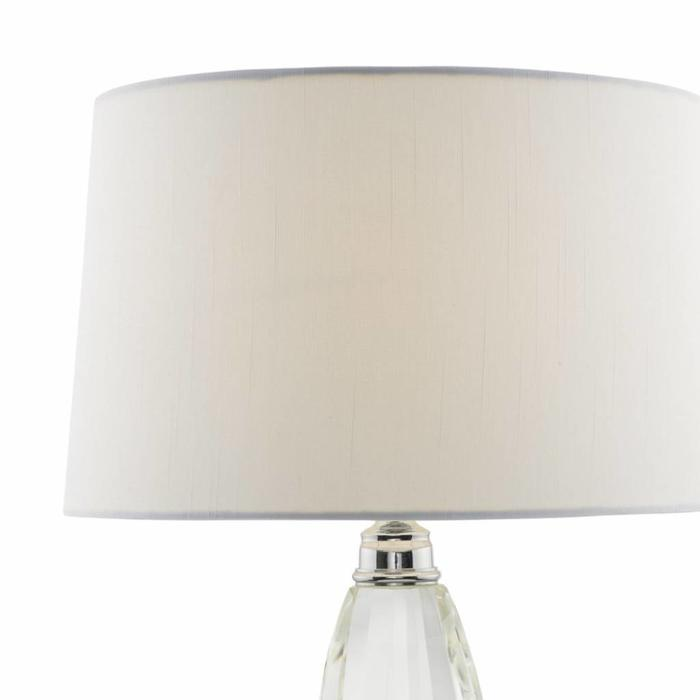 Lyla - Solid Crystal Table Lamp with Ivory Shade