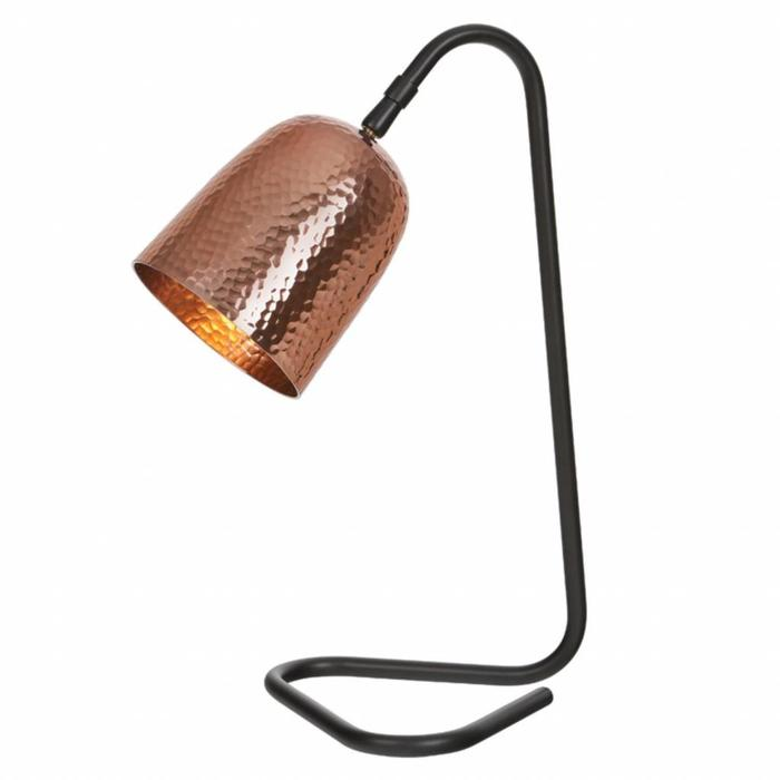 Ulrik - Hammered Copper and Black Table Lamp