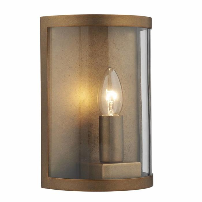 Dusk - Natural Brass Outdoor Wall Light