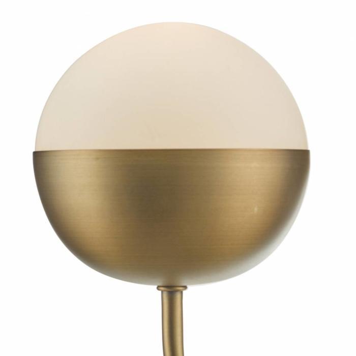 Curve - Aged Brass & Globe Wall Light