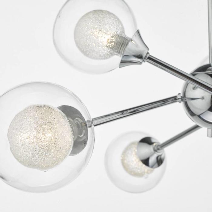 Zeka - 6 Light Semi Flush Fitting - Polished Chrome