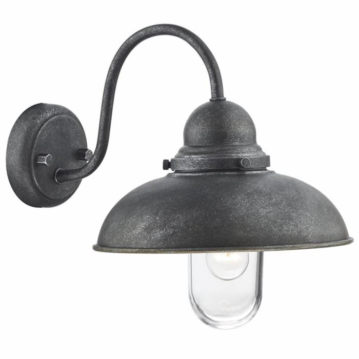 Retro Outdoor Wall Light - Aged Aluminium