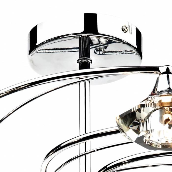 10 Light Crystal Semi Flush Fitting
