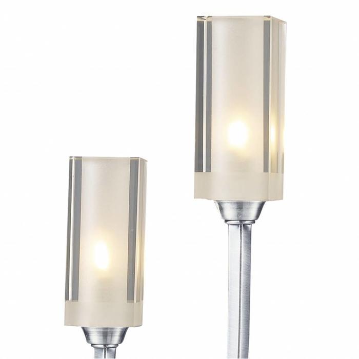 Minimalist 2 Light Table Lamp - Satin Chrome