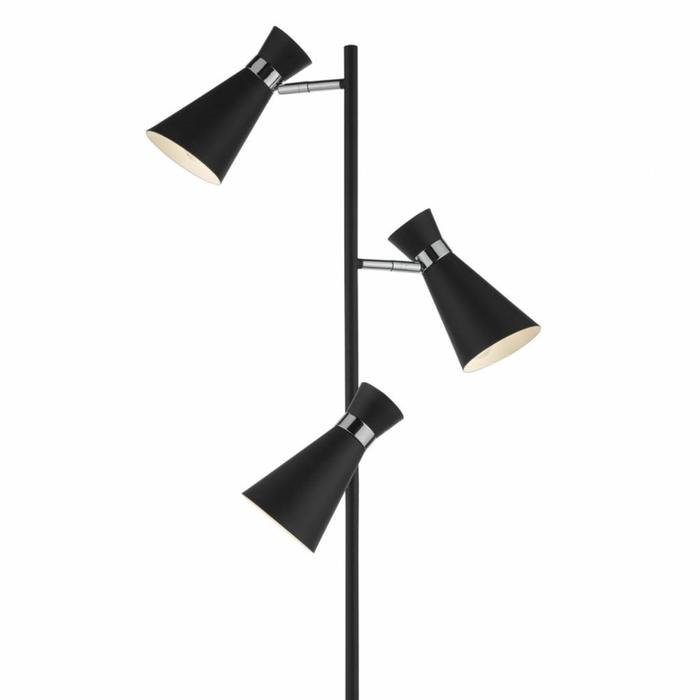Ash - Black & Polished Chrome Floor Lamp