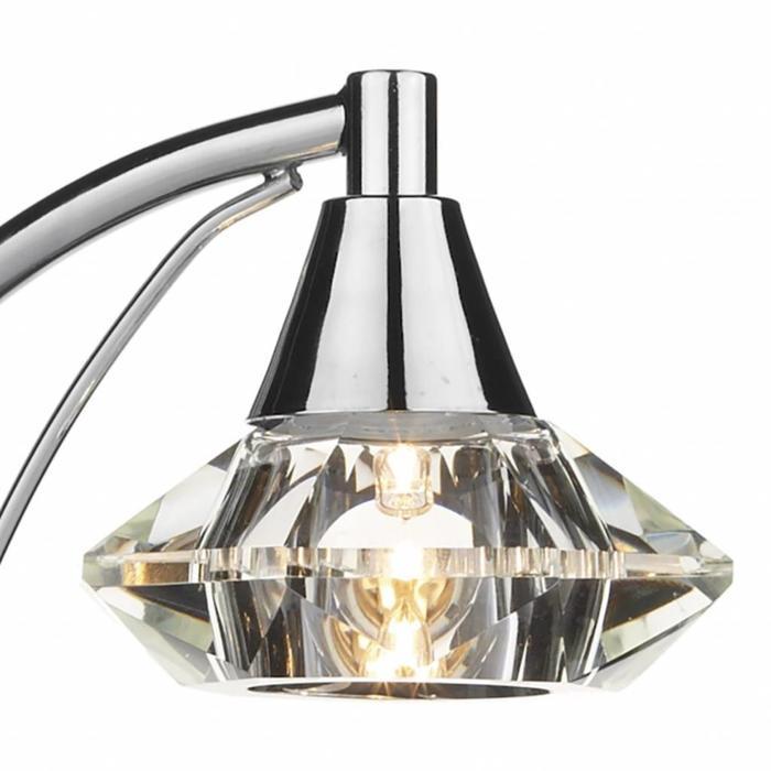 Single Crystal Table Lamp,- Polished Chrome