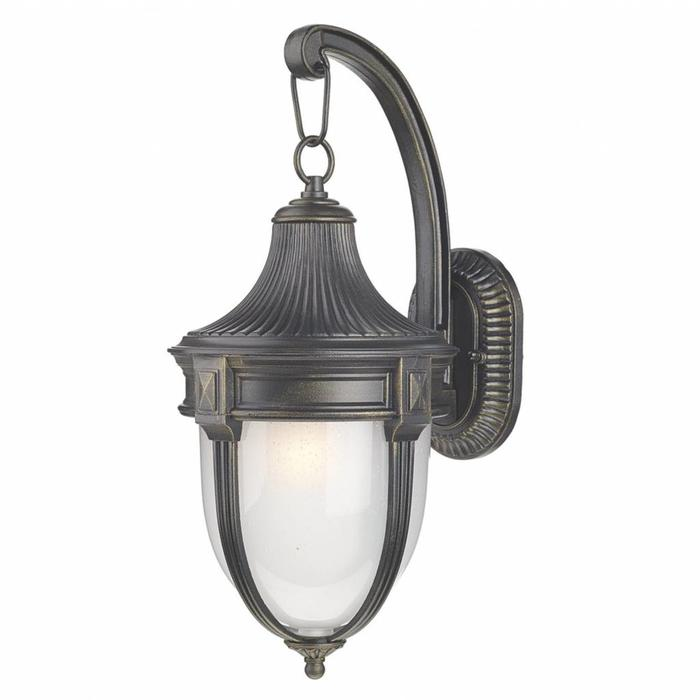 Richmond -  Classic  Outdoor Wall Light - Black/Gold