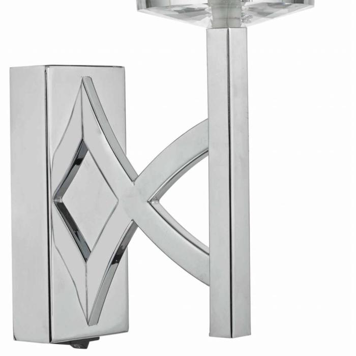 Lyon - Classic Chrome & Crystal Wall Light