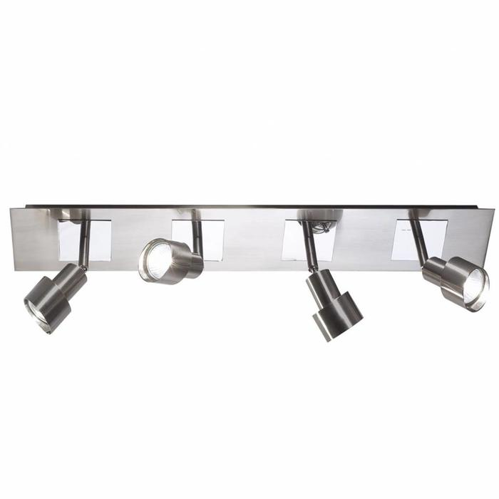 Modern Bar Spotlight - Satin & Polished Chrome