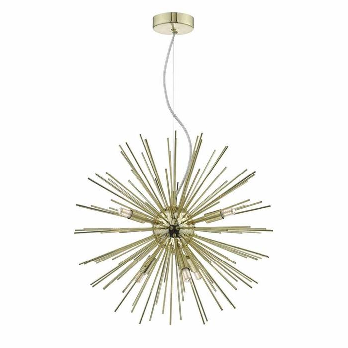 Sagan - 6 Light Gold Sunburst Pendant