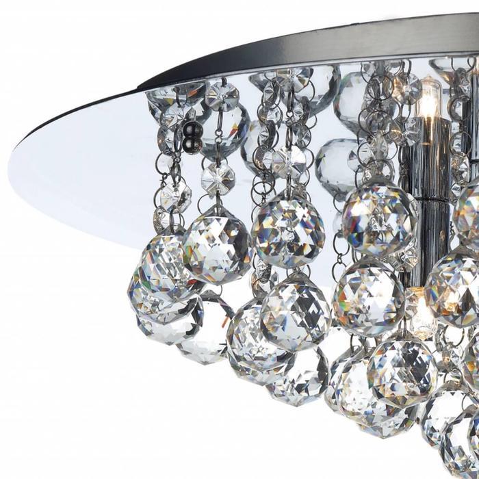 Crystal Flush Ceiling Light - Polished Chrome - Large