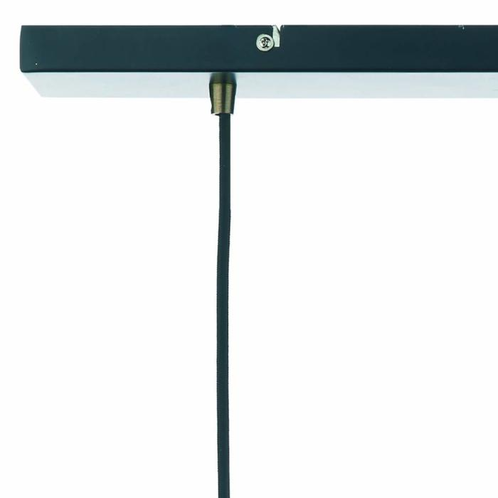 Industrial Bar 3 Light Fitting - Antique Brass/Black