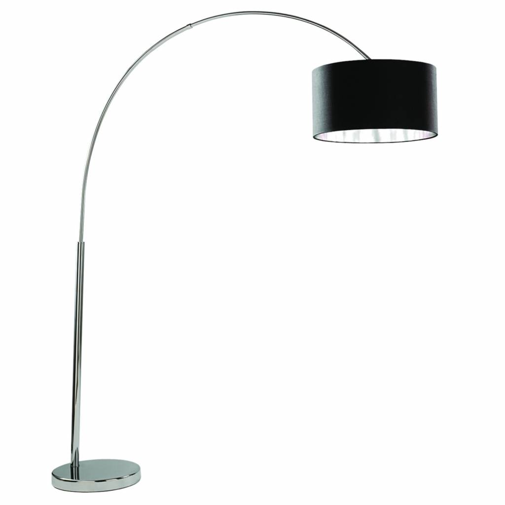 Picture of: Arcs Oversized Chrome Floor Lamp With Black Fabric Shade Lightbox