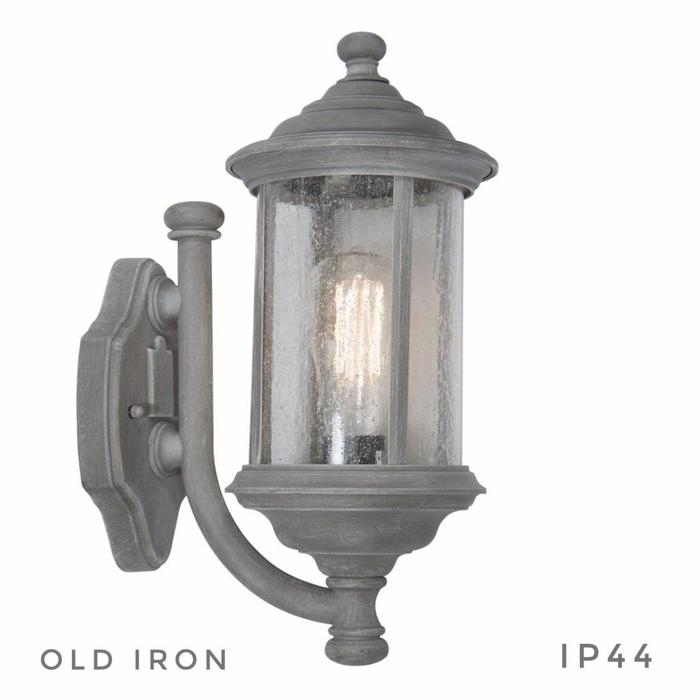Traditional Outdoor Wall Light - Grey Old Iron