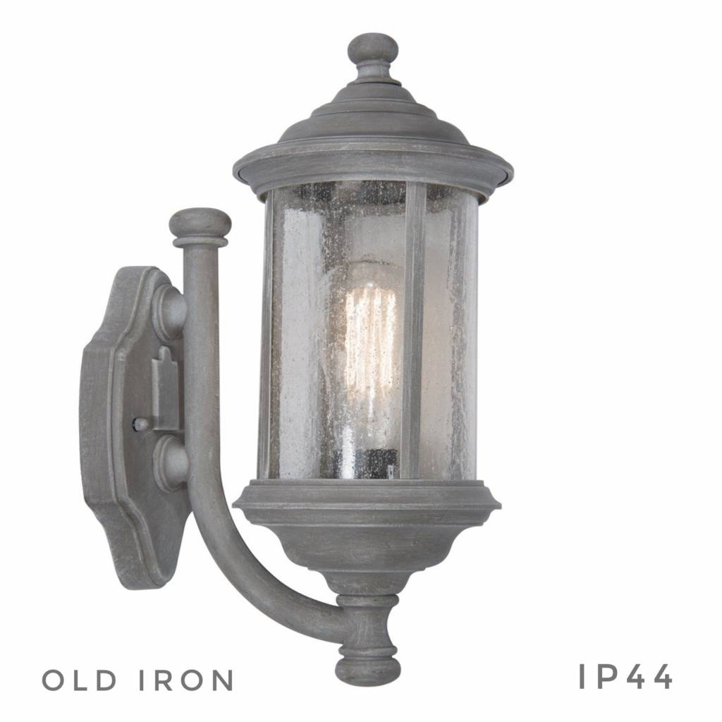Traditional Outdoor Wall Light Grey Old Iron Lightbox