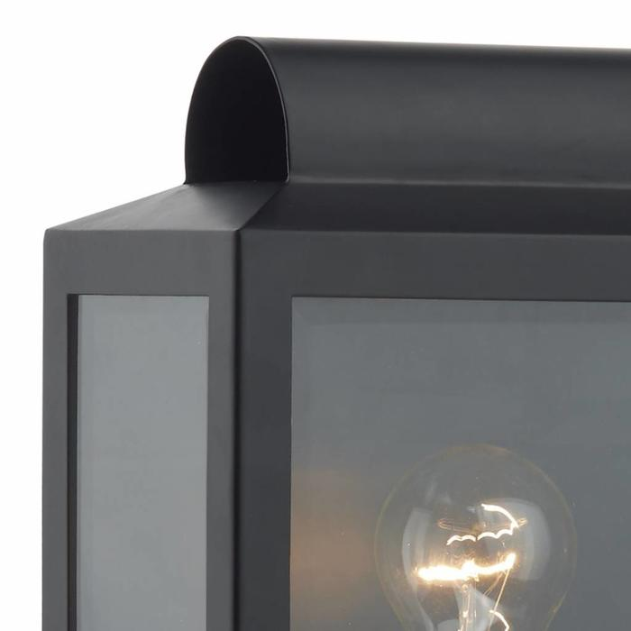 Notary - Modern Box Outdoor Wall Light - Black