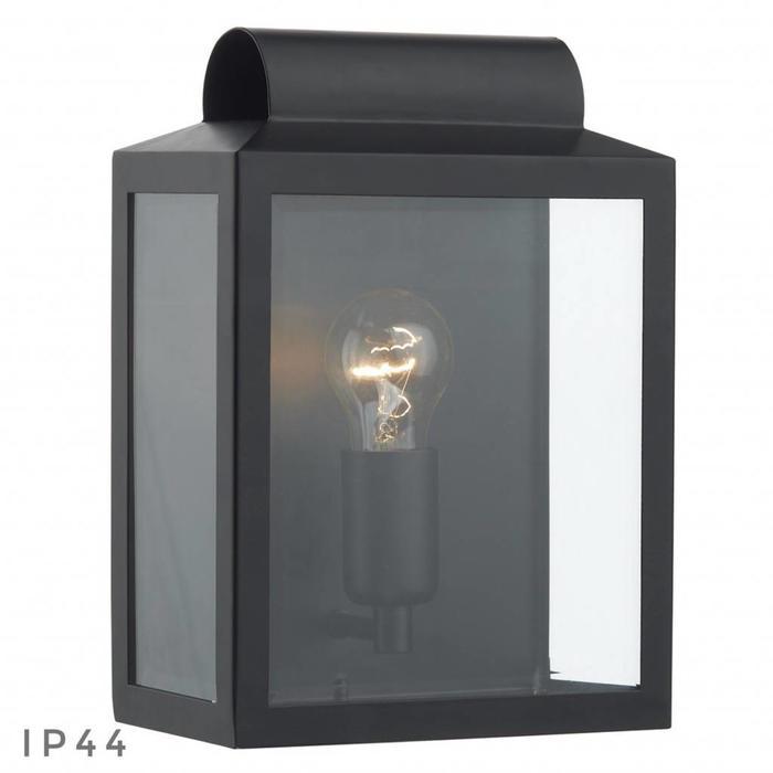 Notary - Modern Box Outdoor Wall Light - Black