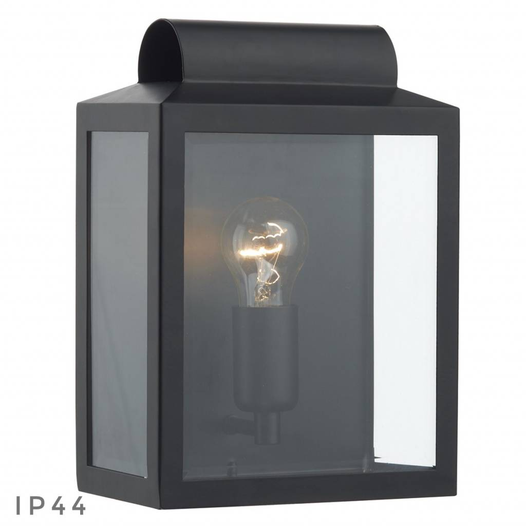Notary modern box outdoor wall light black