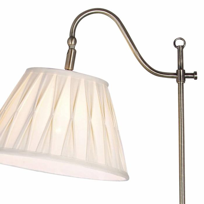 Surrey - Traditional Standard Lamp with Pinched Pleat Shade - Antique Brass
