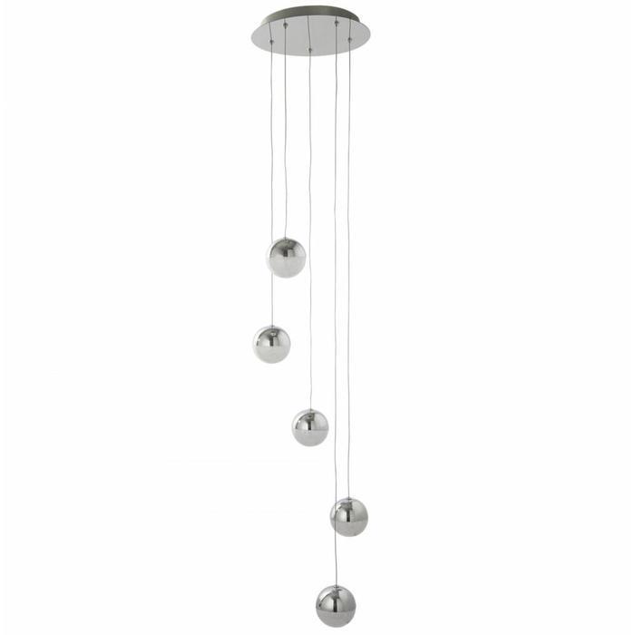 Keln - LED Globe Cluster Light - Polished Chrome & Crushed Ice Sparkle