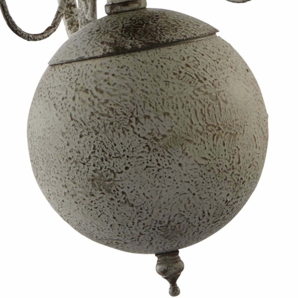 Details about Greythorne 8 Light Textured Grey Finish Ceiling Fitting Candle Style Chandelier