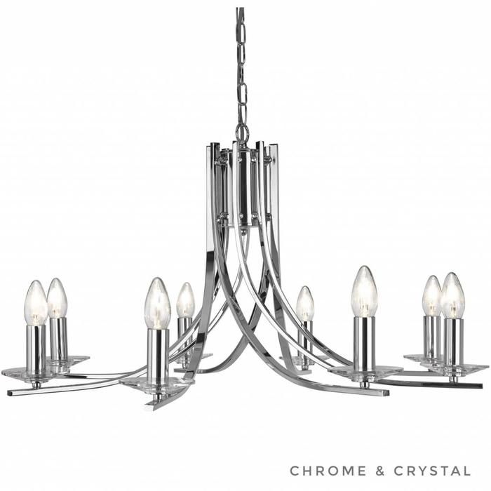 Ascona - 8 Light Chandelier - Polished Chrome